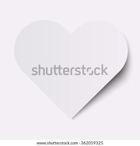 white heart on a white