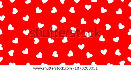 white hearts on bright red