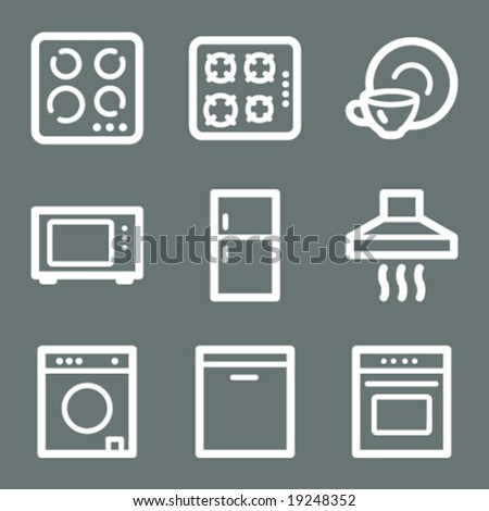 White home appliances web icons V2