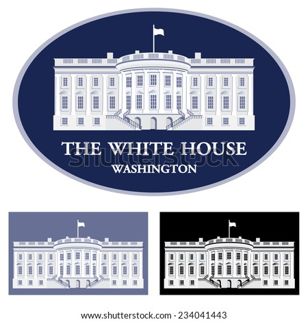 white house   detailed vector