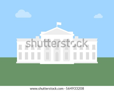 White House flat illustration. Modern vector icon.