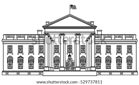 the white house vector free vector art at vecteezy rh vecteezy com White House Top View White House Top View