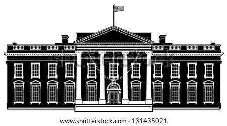 the white house vector free vector art at vecteezy
