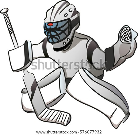 Vector Images Illustrations And Cliparts White Ice Hockey Goalie