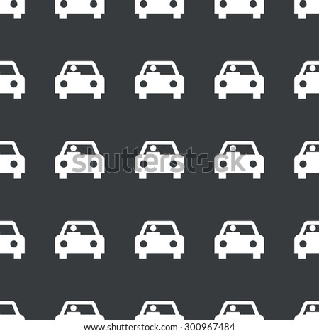 White image of car with driver repeated on black background