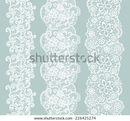 white lacy vintage elegant trim....