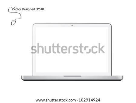 White Laptop - Vector Designed EPS10