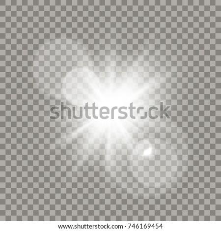 white lens flare effect