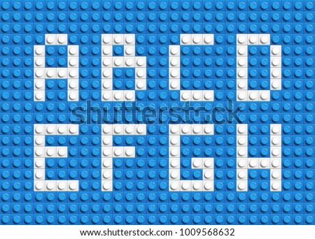 white letters of alphabet from