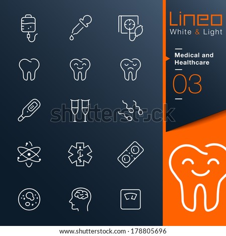 White & Light Medical and Healthcare outline icons