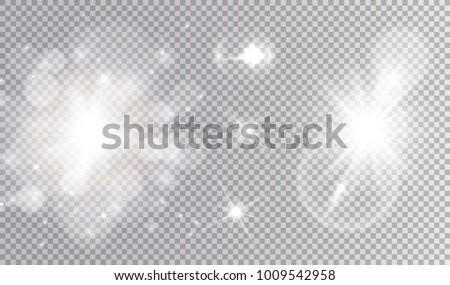 white lights cosmic design set