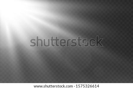 white lights on transparent