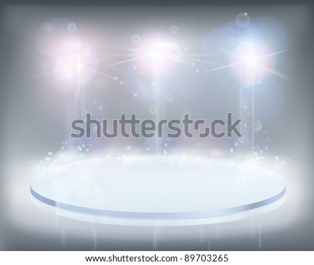 White lights. Vector illustration.