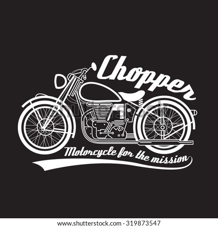 white line chopper motorcycle