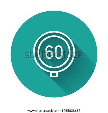 white line speed limit traffic