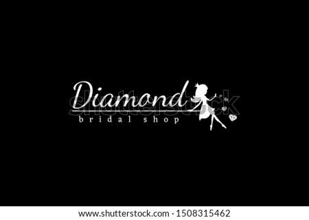 white logotype diamond with