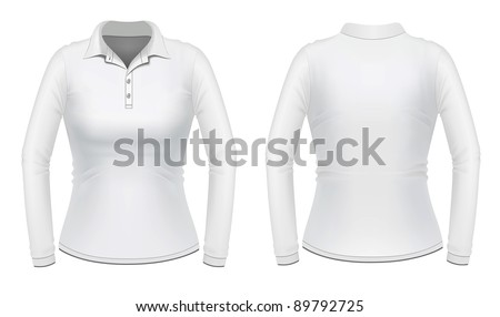 White long sleeve female shirt #89792725
