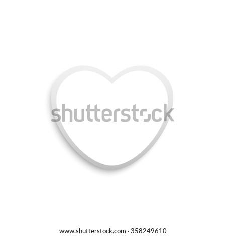 white love heart 3d vector