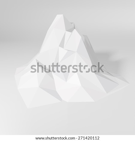 white low poly geometric 3d