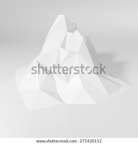 white low poly geometric 3d