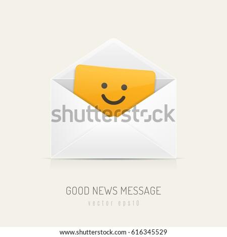 white mail envelope with orange