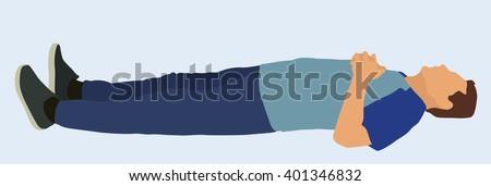 white male lying down