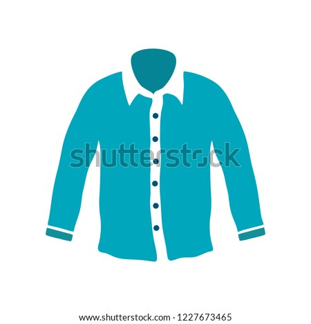 stock-vector-white-male-shirt-with-long-sleeves-in-front-view-isolated-on-a-white-background-vector-casual