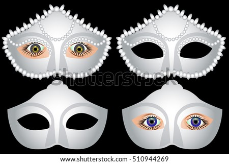 white masquerade mask and