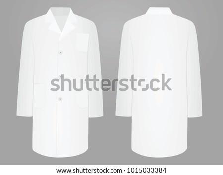 White medical coat. vector illustration.