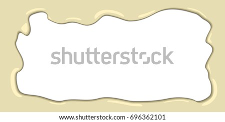 white melted chocolate vector