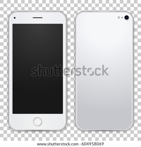 white mobile phone concept