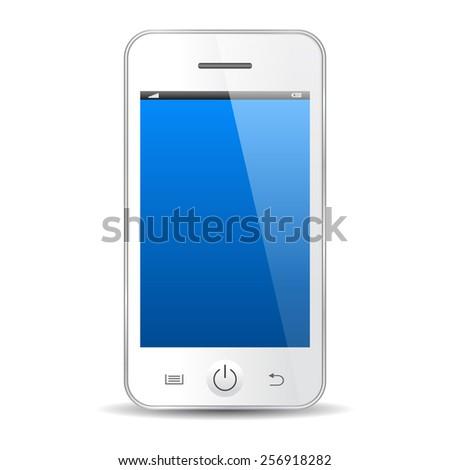 white mobile phone illustration