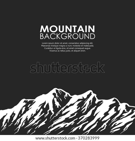 white mountain range isolated