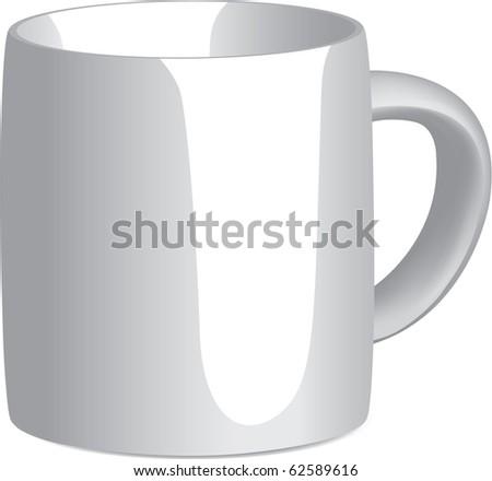 White Mug on white background. Gradient Mesh used.