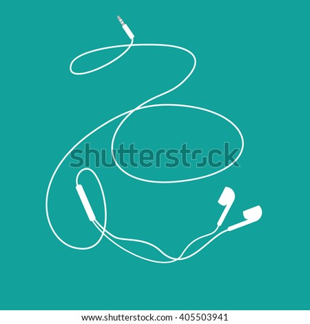 white music earphones with