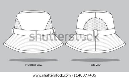 Trucker Mesh Hat Template Vector - Download Free Vector Art, Stock ...