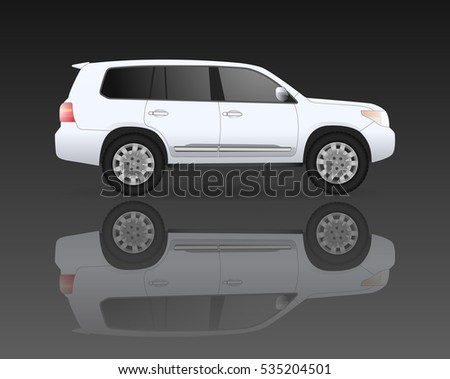 white off road isolated car