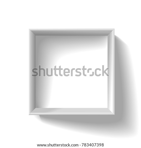 White open realistic box.