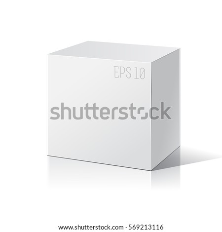 Shutterstock White package box. Product Packing Vector.