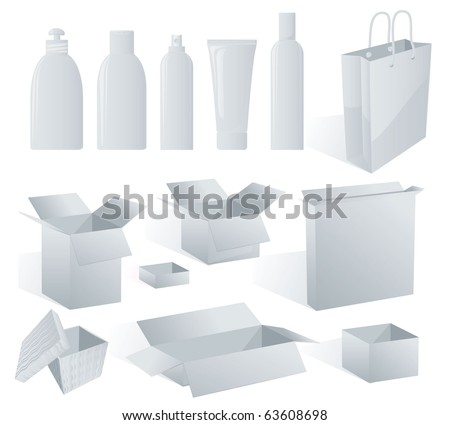 White package templates to put your design on. Vector
