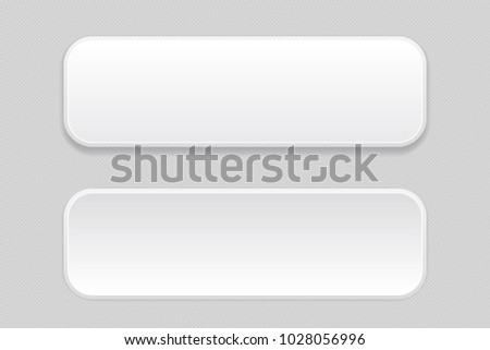 White pair of buttons on gray background. Web icons. Vector illustration #1028056996
