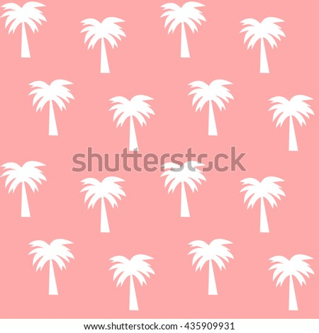 white palm tree on pink