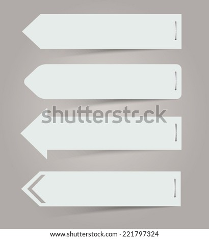 White paper arrows Vector Illustration