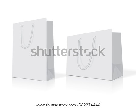 white paper bag for your design
