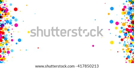 white paper banner with color