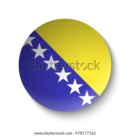 white paper circle with flag of