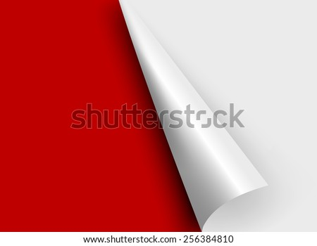 white paper corners. Vector illustration