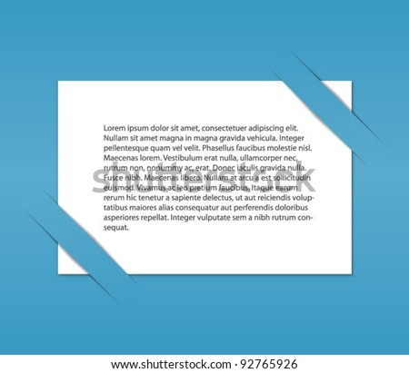 White paper in a cutting background.Easy editable.Vector
