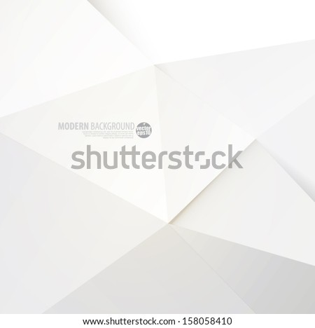 White paper modern polygon background, vector illustration - Shutterstock ID 158058410