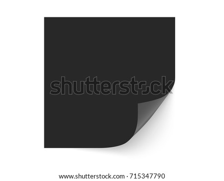 White paper or photocard with a curled corner